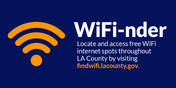 WiFi-nder: locate & access free WiFi internet spot throughout LA County by clicking here.