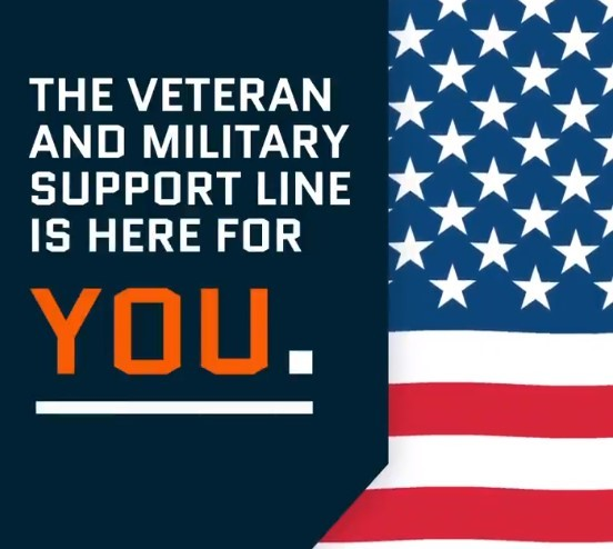 The Veteran and Military Support Line is here for you.