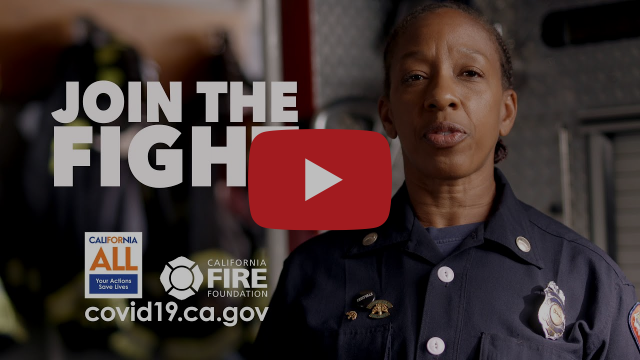 "Click here for the 15-second YouTube clip, ""Join the Fight"" from the California #YourActionsSaveLives campaign."