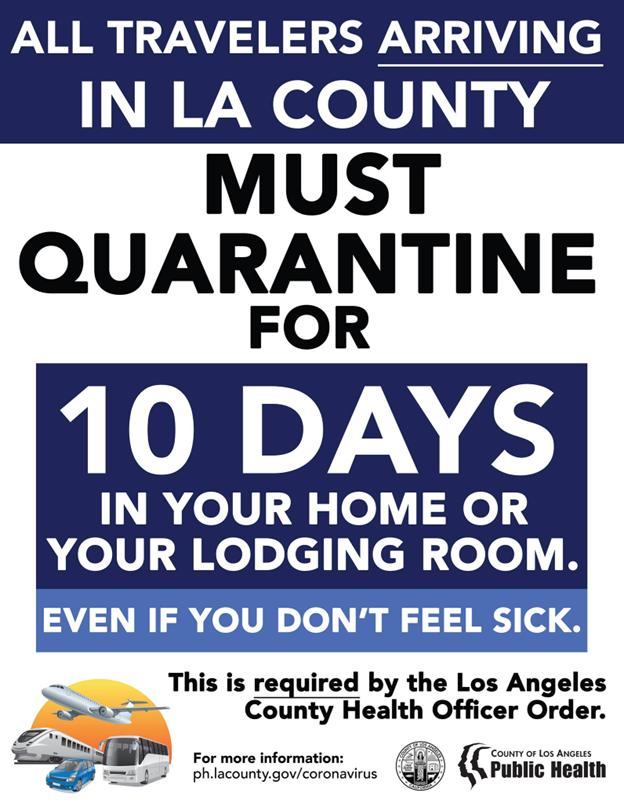 Travelers Must Quarantine for 10 Days