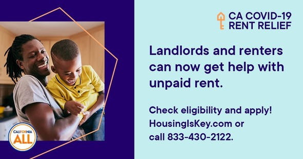 Landlords & renters can now get help with unpaid rent. Check eligibility & apply housingiskey.com or call 833-430-2122.
