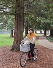 Biking at Park with Dog