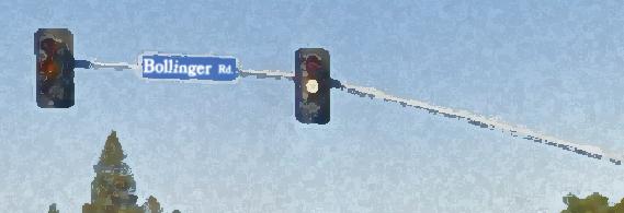 Bollinger Road Traffic Sign