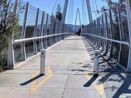 posts at bridge entrance
