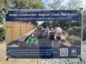 photo of trail construction sign
