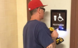 New gender neutral bathroom signs being installed on campus