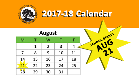 Calendar Graphic - First Day Aug 21