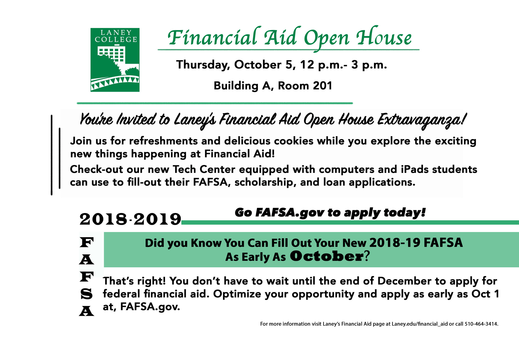 Financial Aid Open House