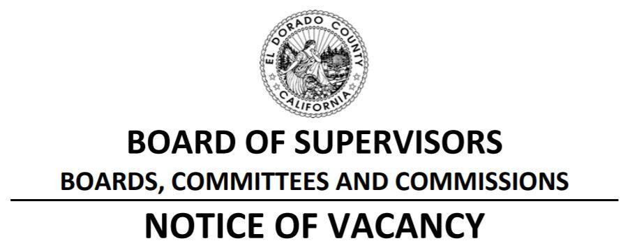 Notice of Vacancy