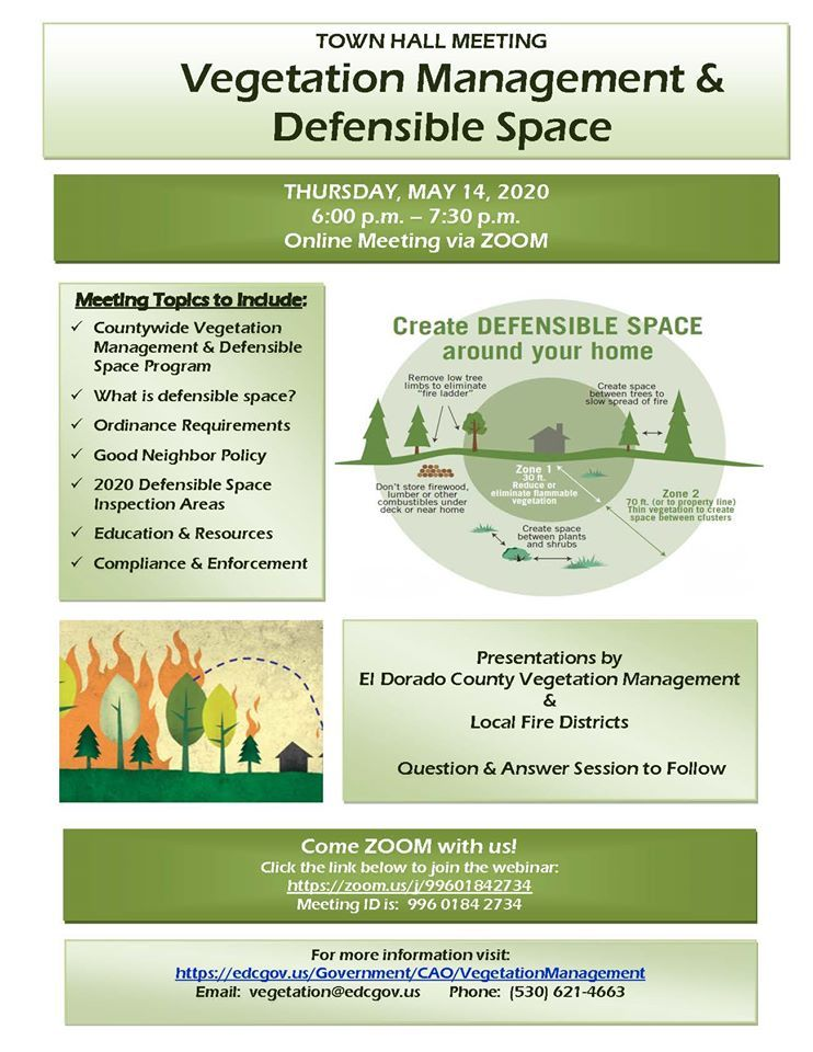 Defensible Space Town Hall