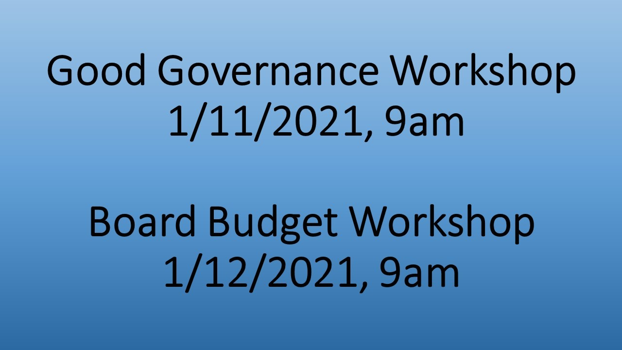 Good Governance-Budget Workshop