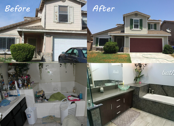 Housing Rehabilitation Before and After