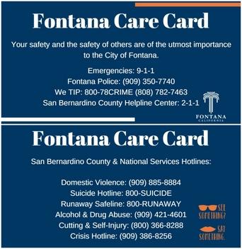 Fontana Care Card