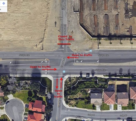 Jurupa and Live Oak Intersection Open