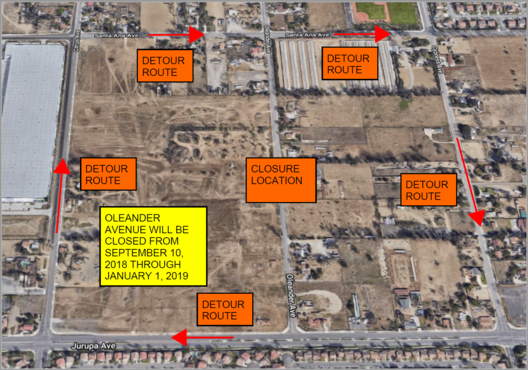 Oleander Avenue Closure