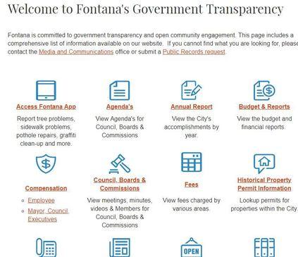 Transparency Webpage