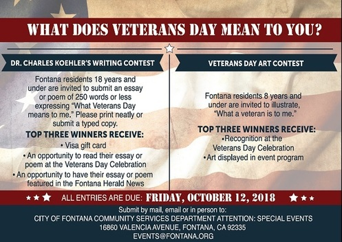 Veterans Day Writing and Art Contest