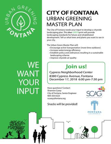 Urban Greening Master Plan