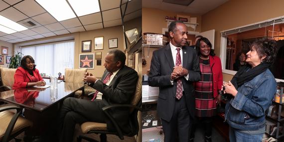 Mayor Warren with U.S. Secretary of Housing and Urban Development