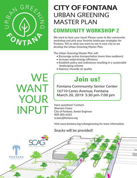 Urban Greening Master Plan Community Workshop
