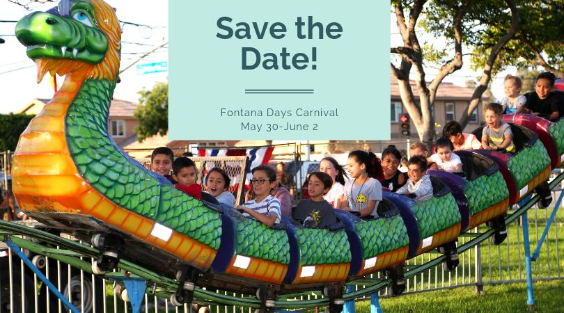 Fontana Days Carnival - Save the Dates