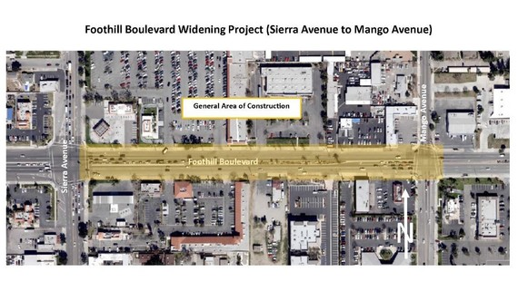 Foothill Widening Project Starts June 3