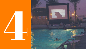 4- Dive in Movies at community pools