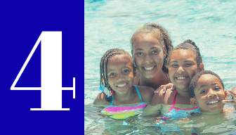 Family Fun at Aquatic Centers featuring Family Fun Nights and Dive In Movies