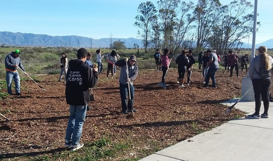 Park Clean Up along Pacific Electric Trail