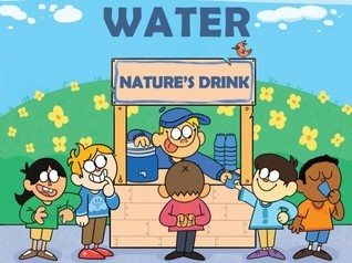 cartoon of kids waiting to get water to drink