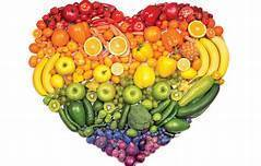 heart image made up of colorful fruits and vegetables