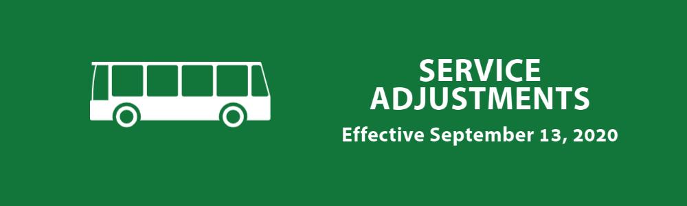Service Adjustments September 2020