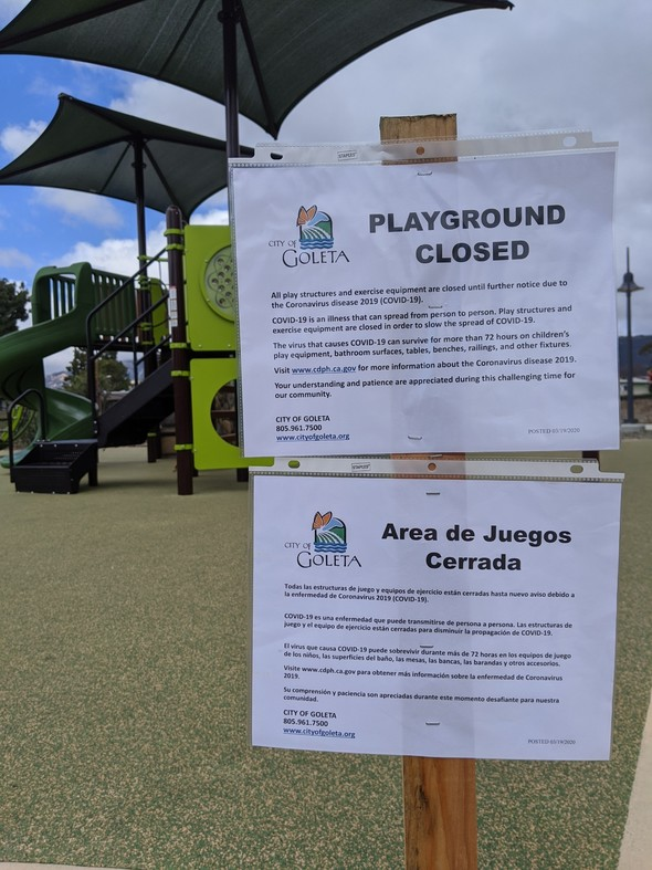 Playground Closed COVID-19 Measure