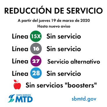 MTD Bus Reduction_200319_Spanish