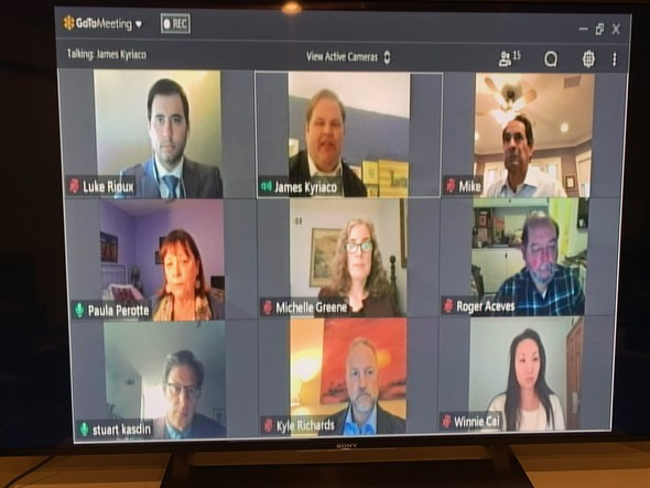 First Virtual City Council Meeting