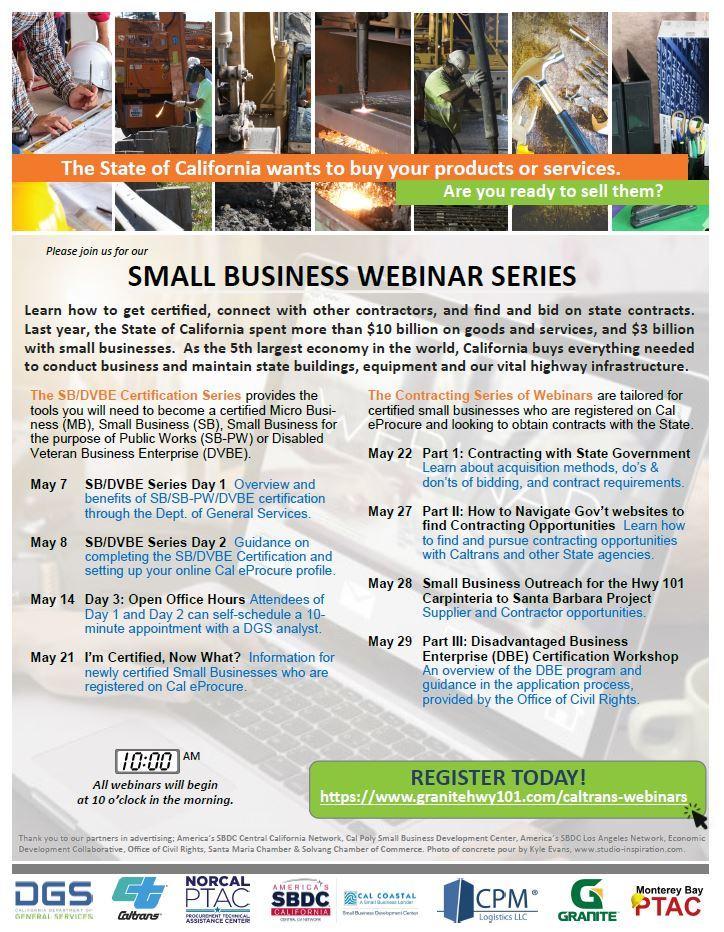 Caltrans Small Business Webinars