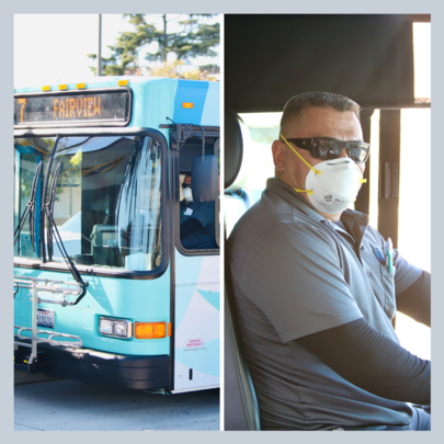 MTD Bus driver with Mask
