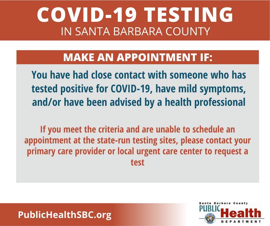 County COVID-19 Testing Sites