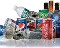 bottles cans