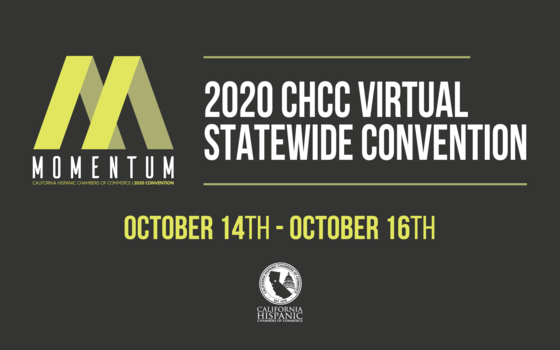 Hispanic Chamber of Commerce Virtual Event Flyer