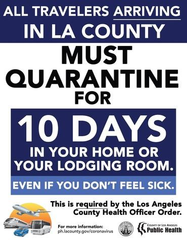 Quarantine after traveling
