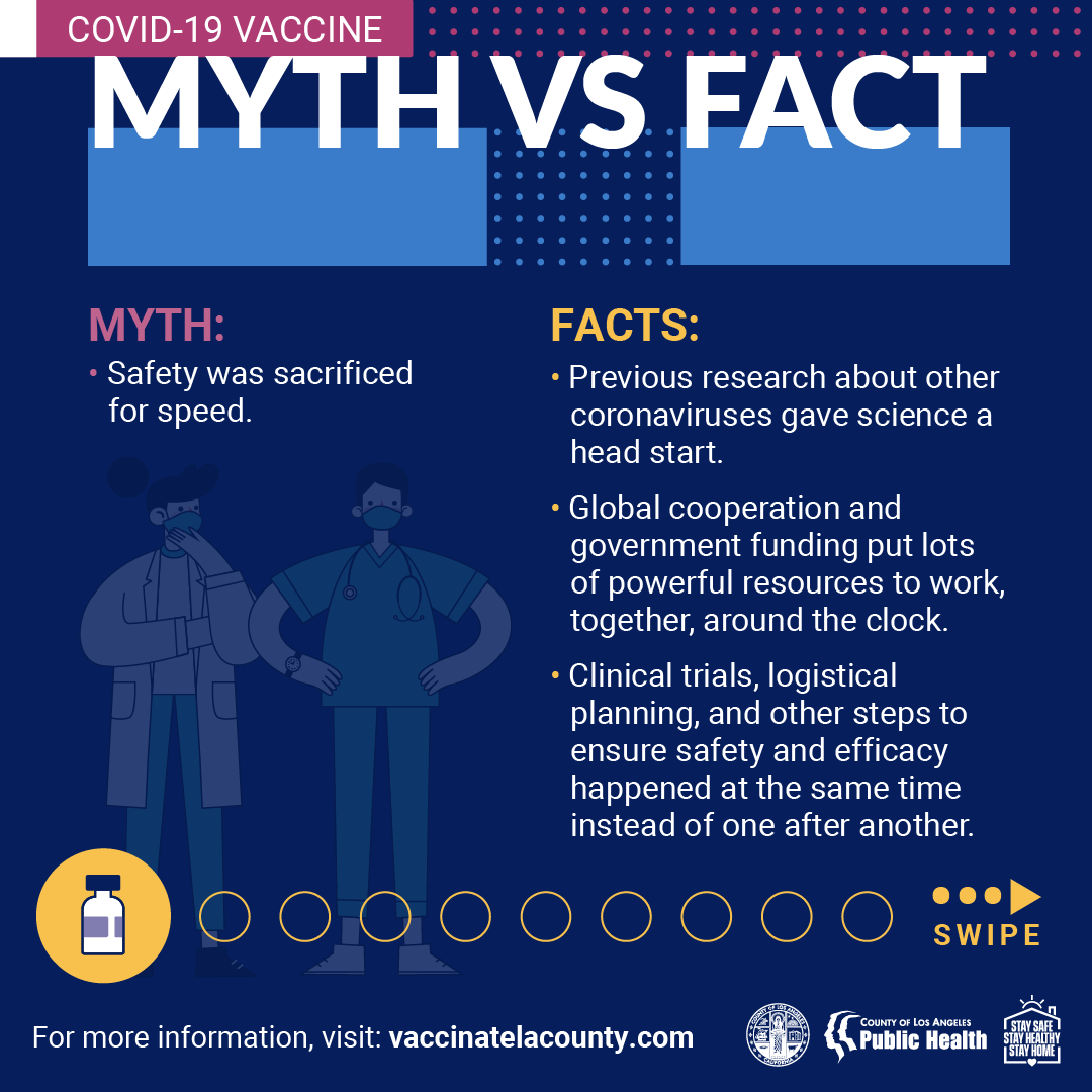Vaccine Myth vs. Fact Graphic
