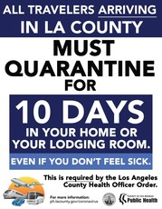 Quarantining after traveling is required.
