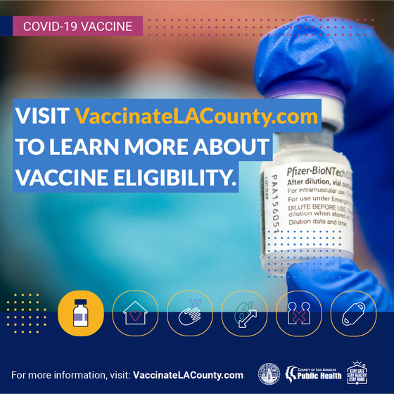 Vaccination info can be found at vaccinatelacounty.com
