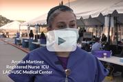 Arcelia, a registered nurse at LAC+USC