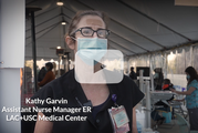 Kathy, an ER Nurse Manager at LAC+USC
