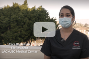 Cara, an ER Room Resident at LAC+USC