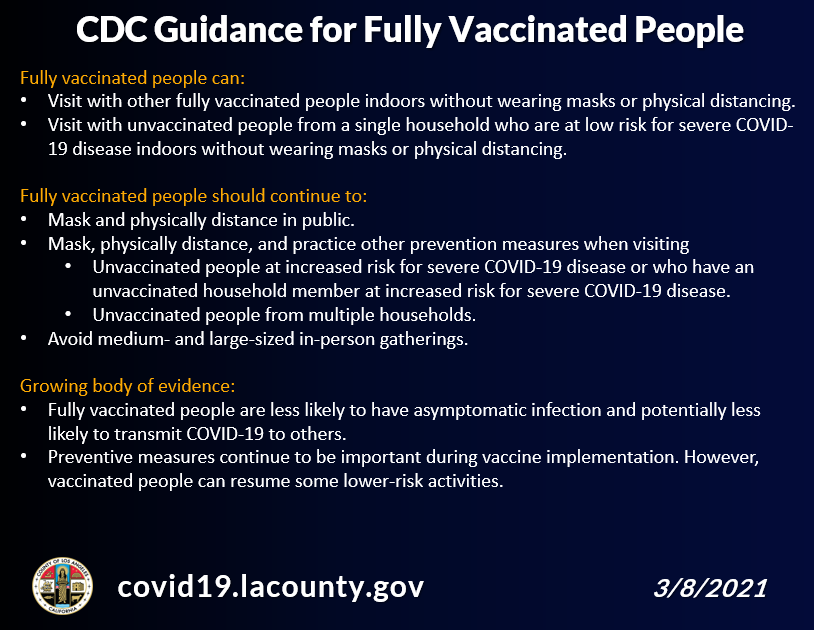 CDC Guidence
