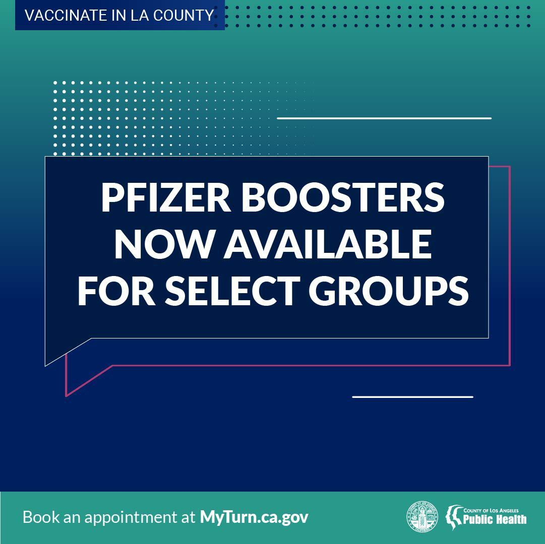 Booster Shots are now Available