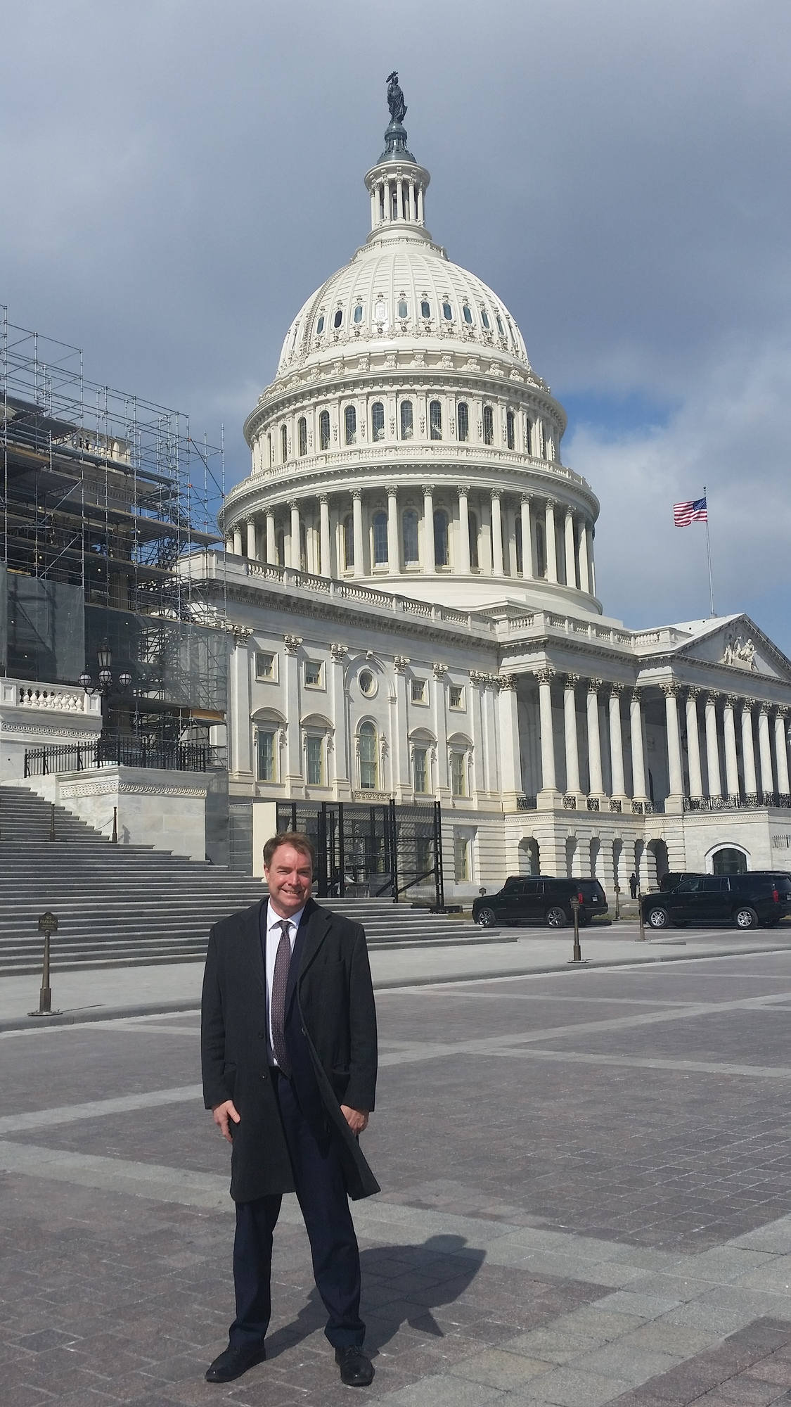 Supervisor Connolly in Washingon D.C. standing in front of the Capital.